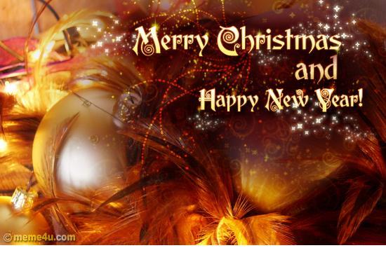Открытка happy merry christmas